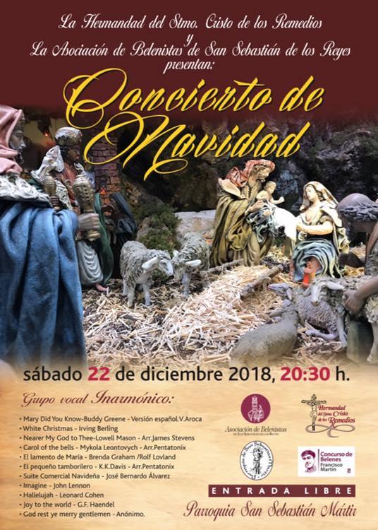 Cartel concierto Navidad 2018